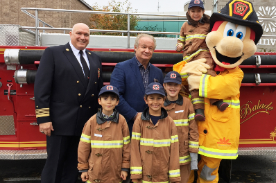Winners of the 2018 Firefighters for a Day Contest - An exciting experience for four young Rosemerites!